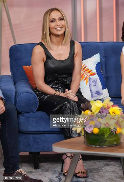 Jennifer Lopez is seen on the set of Despierta America at Univision Studios to promote the film Hustlers on September 13 2019 in Miami Florida