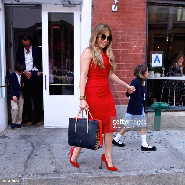 Jennifer Lopez is seen out for dinner on September 26 2017 in New York City