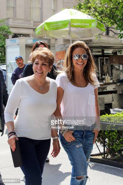 Jennifer Lopez is seen taking a stroll on Madison Avenue with her mom Guadalupe Rodriguez on May 12 2014 in New York City