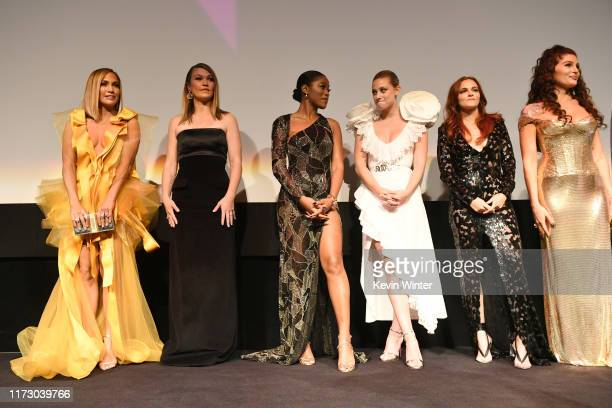 Jennifer Lopez Julia Stiles Keke Palmer Lili Reinhart Madeline Brewer and Trace Lysette attend the Hustlers premiere during the 2019 Toronto...