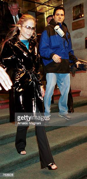 Jennifer Lopez leaves a midtown hotel February 6 2001 on her way to the David Letterman show in New York City