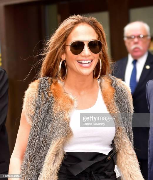 Jennifer Lopez leaves Manhattan Center on April 9 2019 in New York City