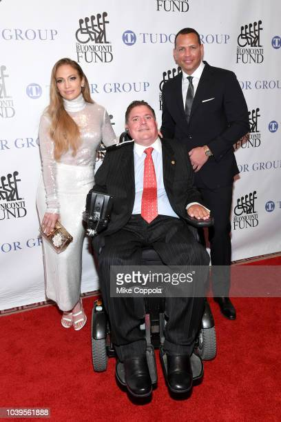 Jennifer Lopez, Marc Buoniconti, and Alex Rodriguez attend the 33rd Annual Great Sports Legends Dinner, which raised millions of dollars for the...