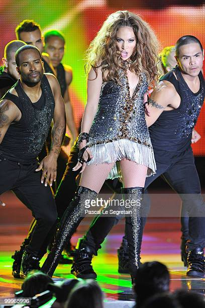 Jennifer Lopez onstage during the World Music Awards 2010 at the Sporting Club on May 18, 2010 in Monte Carlo, Monaco.