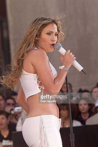 Jennifer Lopez performing on NBC's Today Show at Rockefeller Plaza in New York City Photo Evan Agostini/Getty Images