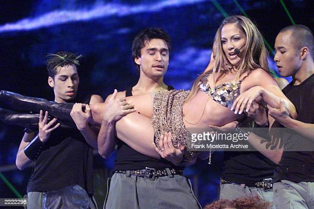 Jennifer Lopez performing on the 1999 Billboard Music Awards at the MGM Grand Garden Arena in Las Vegas 12/8/1999