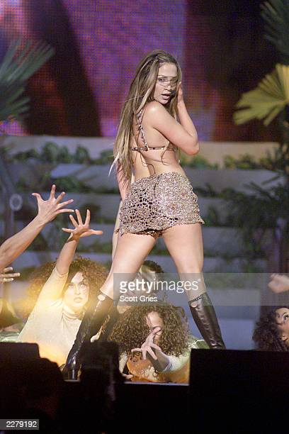 Jennifer Lopez performing on the 1999 Billboard Music Awards at the MGM Grand Garden Arena in Las Vegas 12/8/1999 Photo Scott Gries/ImageDirect