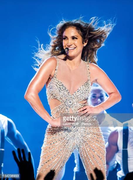 Jennifer Lopez performs at Palais Omnisports de Bercy on October 16 2012 in Paris France