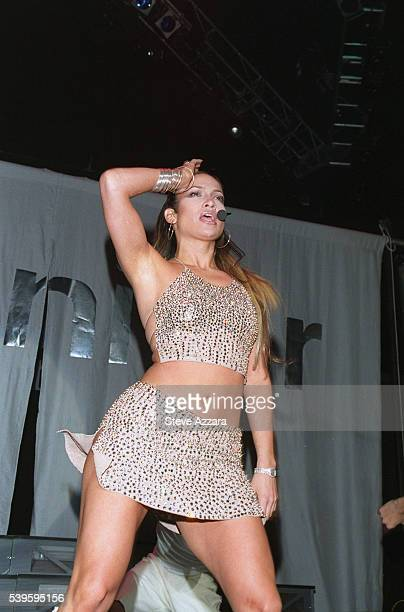 Jennifer Lopez performs at the 1999 Miracle on 34th Street Concert in the Hammerstein Ballroom which was sponsored by radio station WKTU
