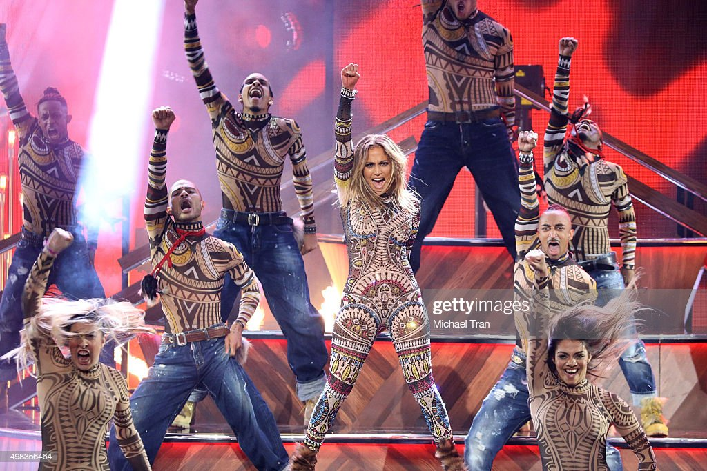 Jennifer Lopez performs at the 2015 American Music Awards at Microsoft Theater on November 22, 2015 in Los Angeles, California.