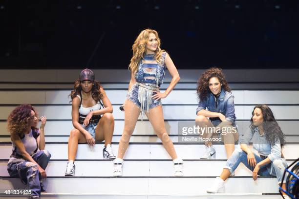 Jennifer Lopez performs at the Meydan Racecourse on March 29 2014 in Dubai United Arab Emirates