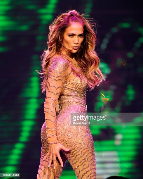 Jennifer Lopez performs at the Mohegan Sun 15th anniversary on October 22 2011 in Uncasville Connecticut