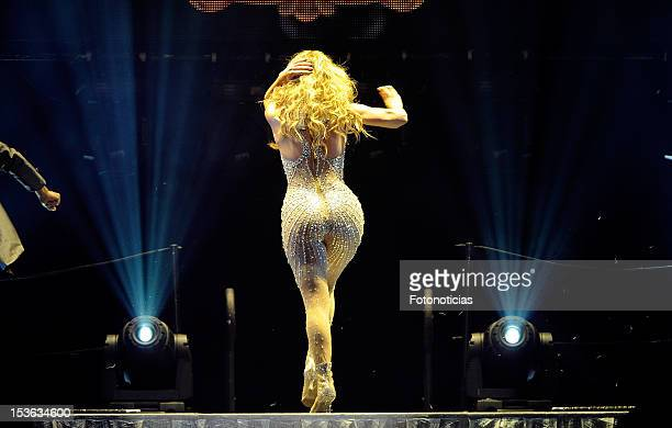 Jennifer Lopez performs at The Palacio de Deportes on October 7 2012 in Madrid Spain