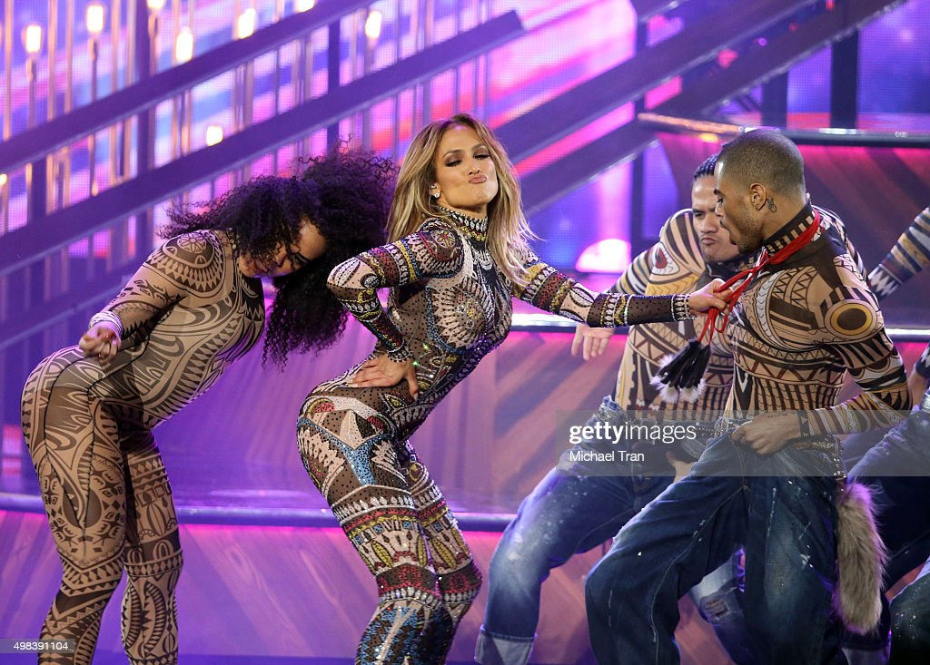Jennifer Lopez performs attends the 2015 American Music Awards at Microsoft Theater on November 22, 2015 in Los Angeles, California.