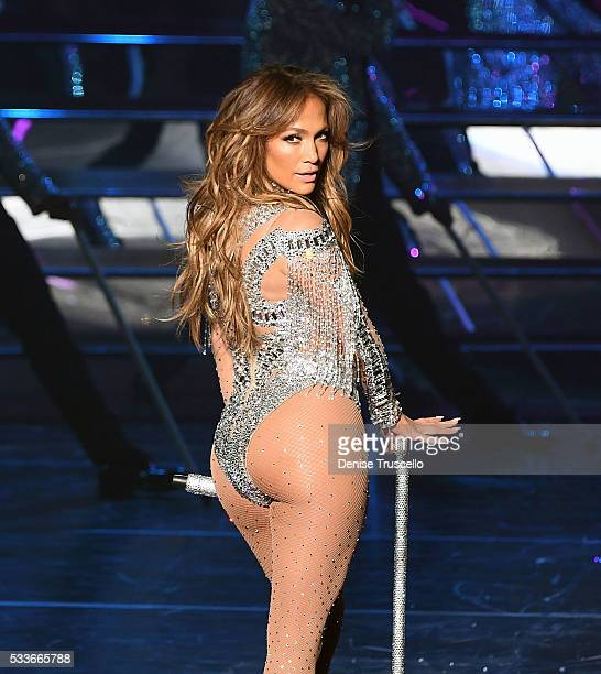 Jennifer Lopez performs during JENNIFER LOPEZ: ALL I HAVE...The Vegas Return At The AXIS At Planet Hollywood Resort & Casino on May 22, 2016 in Las...