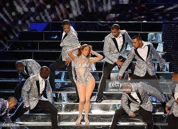 Jennifer Lopez performs during JENNIFER LOPEZ ALL I HAVEThe Vegas Return At The AXIS At Planet Hollywood Resort Casino on May 22 2016 in Las Vegas...