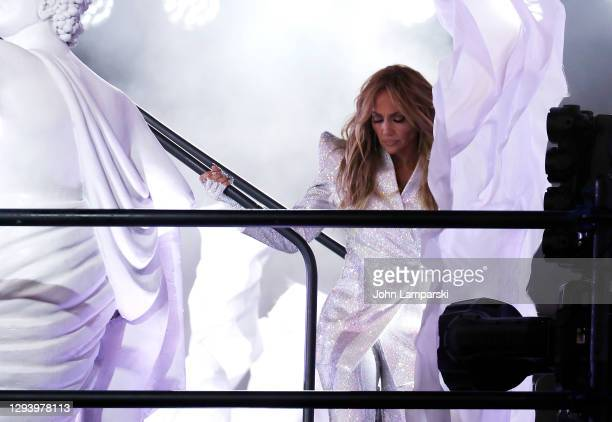 Jennifer Lopez performs during New Years Eve in Times Square on December 31, 2020 in New York City.