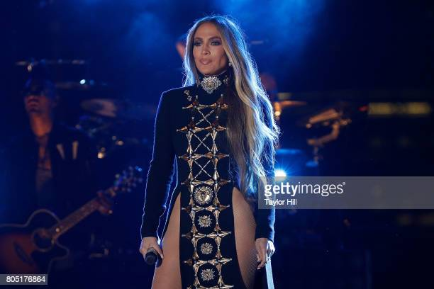 Jennifer Lopez performs during the pre tape for the Macy's 4th of July Firework Show at Hunter's Point South Park on June 30 2017 in New York City