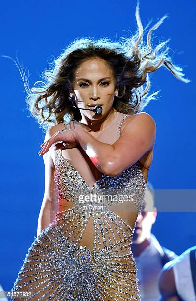 Jennifer Lopez performs live on stage at 02 Arena on October 22 2012 in London England