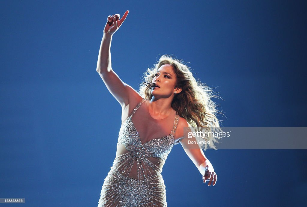 Jennifer Lopez performs on stage at Allphones Arena on December 14, 2012 in Sydney, Australia.