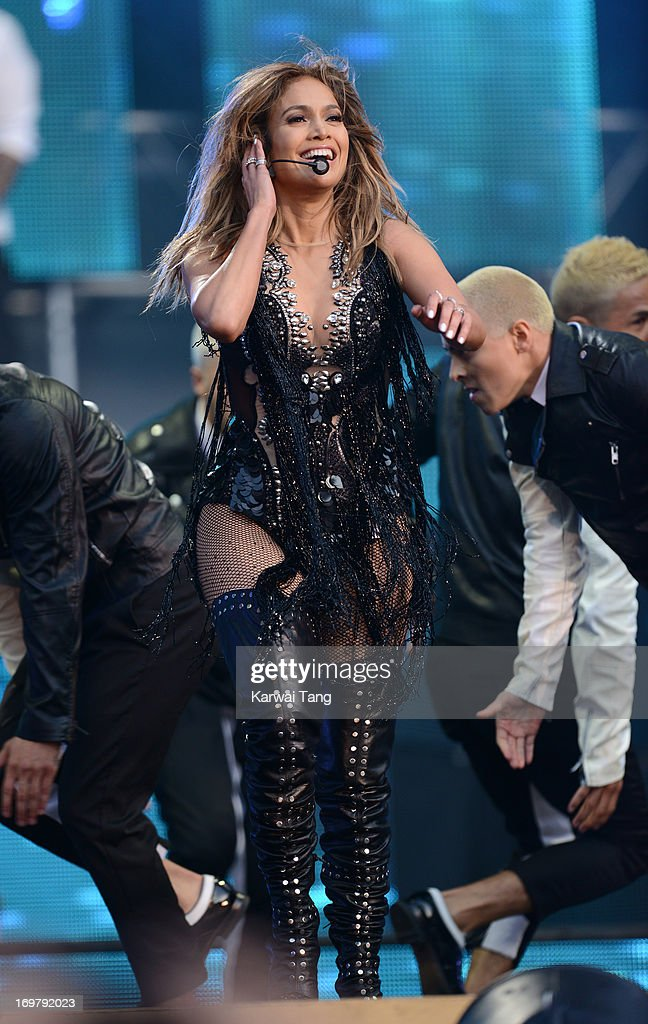 Jennifer Lopez performs on stage at the 'Chime For Change: The Sound Of Change Live' Concert at Twickenham Stadium on June 1, 2013 in London, England. Chime For Change is a global campaign for girls' and women's empowerment founded by Gucci with a founding committee comprised of Gucci Creative Director Frida Giannini, Salma Hayek Pinault and Beyonce Knowles-Carter.
