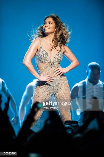Jennifer Lopez performs on stage at the KoenigPilsenerArena on October 31 2012 in Oberhausen Germany
