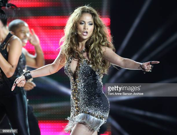 Jennifer Lopez performs on stage during the World Music Awards 2010 at the Sporting Club on May 18 2010 in Monte Carlo Monaco