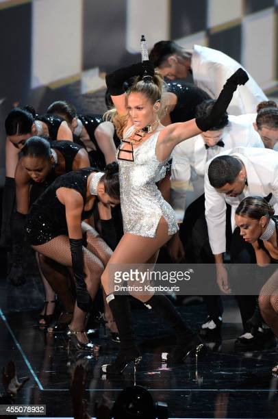 Jennifer Lopez performs onstage at Fashion Rocks 2014 presented by Three Lions Entertainment at the Barclays Center of Brooklyn on September 9 2014...