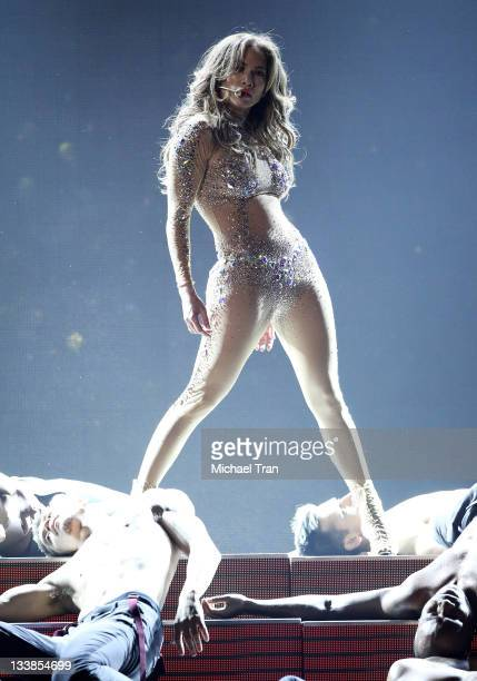 Jennifer Lopez performs onstage at the 2011 American Music Awards held at Nokia Theatre L.A. Live on November 20, 2011 in Los Angeles, California.