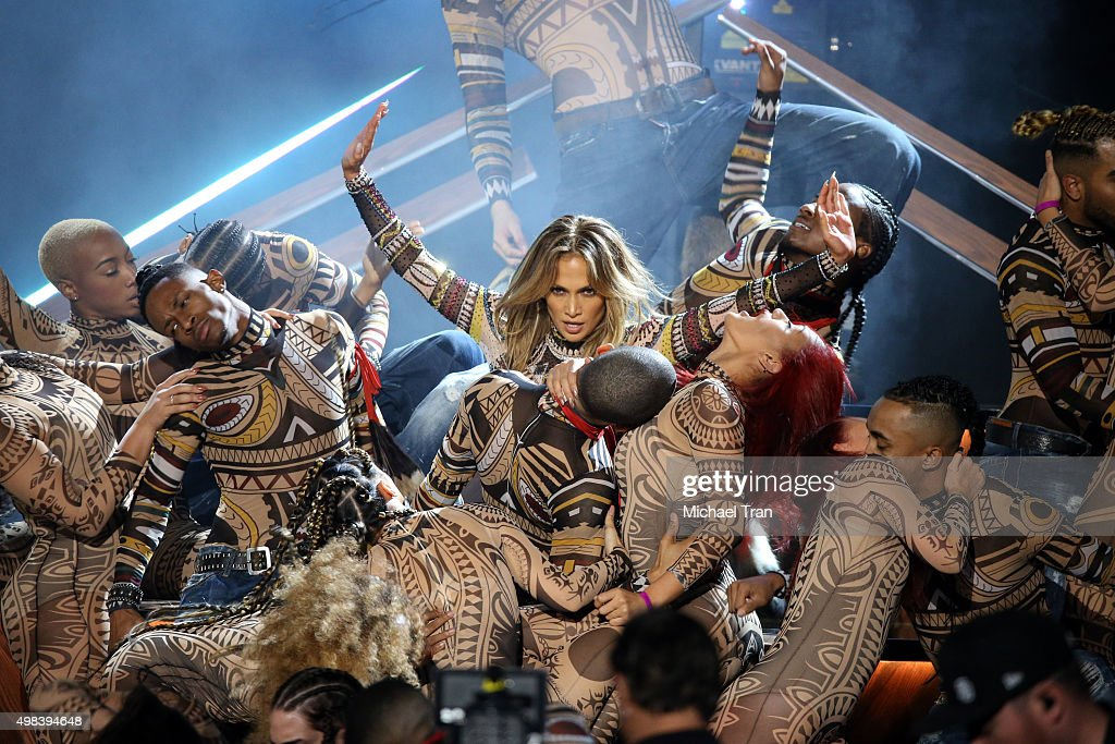Jennifer Lopez performs onstage at the 2015 American Music Awards at Microsoft Theater on November 22, 2015 in Los Angeles, California.