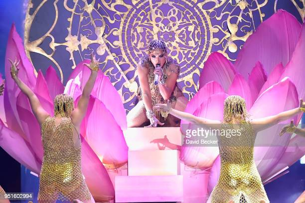 Jennifer Lopez performs onstage at the 2018 Billboard Latin Music Awards at the Mandalay Bay Events Center on April 26 2018 in Las Vegas Nevada