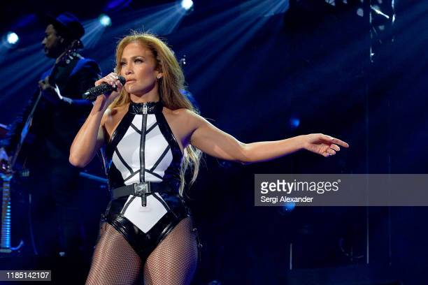 Jennifer Lopez performs onstage at the 2019 iHeartRadio Fiesta Latina at AmericanAirlines Arena on November 02 2019 in Miami Florida