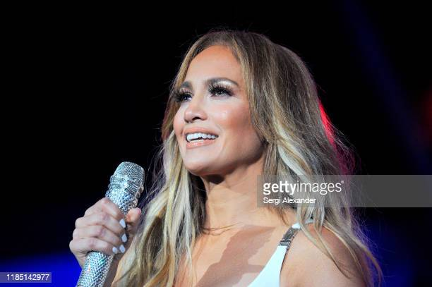 Jennifer Lopez performs onstage at the 2019 iHeartRadio Fiesta Latina at AmericanAirlines Arena on November 02, 2019 in Miami, Florida.