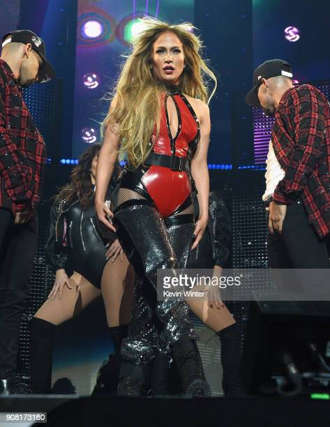 Jennifer Lopez performs onstage during Calibash Los Angeles 2018 at Staples Center on January 20 2018 in Los Angeles California