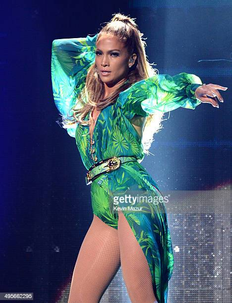 Jennifer Lopez performs onstage during her first ever hometown concert to launch State Farm Neighborhood Sessions on June 4, 2014 in Bronx, New York.