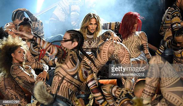 Jennifer Lopez performs onstage during the 2015 American Music Awards at Microsoft Theater on November 22 2015 in Los Angeles California
