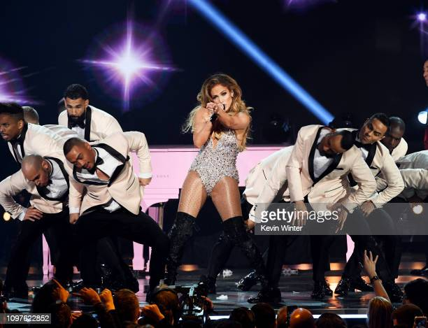 Jennifer Lopez performs onstage during the 61st Annual GRAMMY Awards at Staples Center on February 10, 2019 in Los Angeles, California.