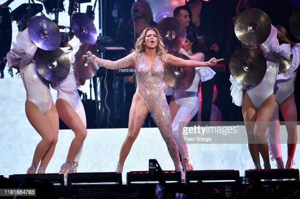Jennifer Lopez performs onstage during the It's My Party Tour at Madison Square Garden on July 12 2019 in New York City