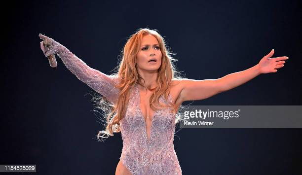 Jennifer Lopez performs onstage during the It's My Party Tour at The Forum on June 07, 2019 in Inglewood, California.