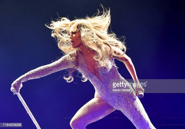 Jennifer Lopez performs onstage during the It's My Party Tour at The Forum on June 07 2019 in Inglewood California