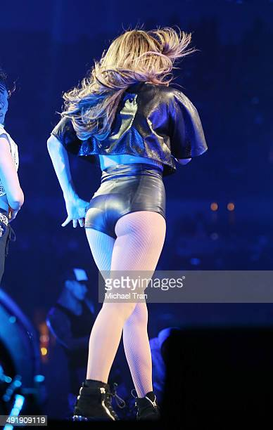 Jennifer Lopez performs onstage during the Power 106 FM Presents Powerhouse held at Honda Center on May 17 2014 in Anaheim California