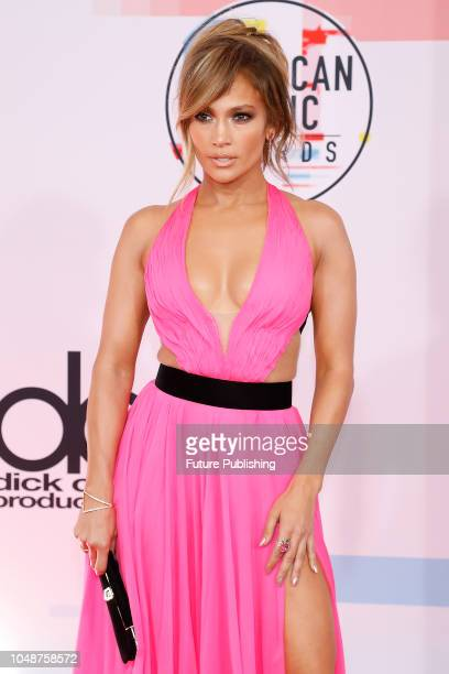 Jennifer Lopez photographed on the red carpet of the 2018 American Music Awards at the Microsoft Theater on October 9 2018 in Los Angeles USA