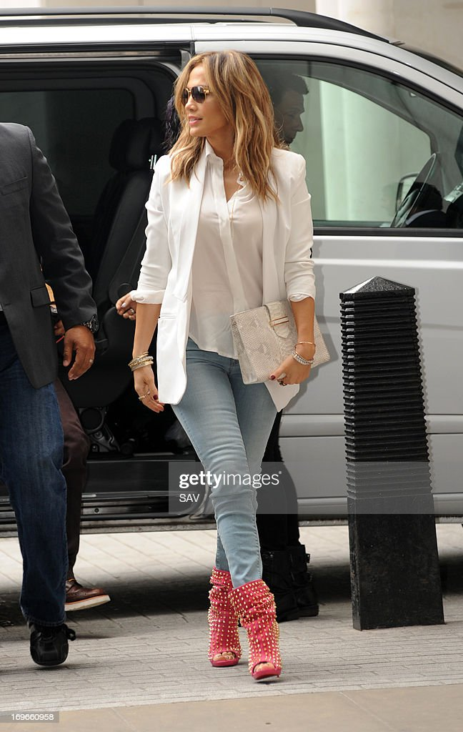 Jennifer Lopez pictured at Radio 1 on May 30, 2013 in London, England.