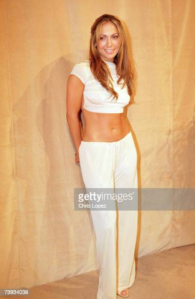Jennifer Lopez posing for photographers at the FHM sexiest woman awards London
