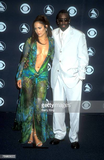 Jennifer Lopez & Puff Daddy at the Grammys in Los Angeles, California on 2-23-2000 at the Staple Center.