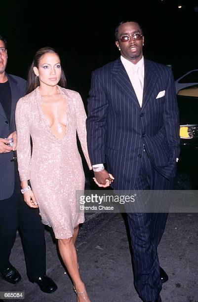 Jennifer Lopez Puff Daddy attending the PostParty for the 1999 VH1/Vogue Fashion Awards New York City December 15 1999