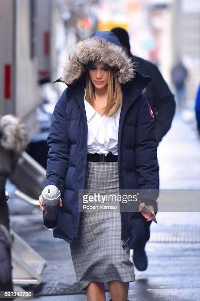 Jennifer Lopez seen at a 'Shades of Blue' Film sent in Manhattan on December 14 2017 in New York City