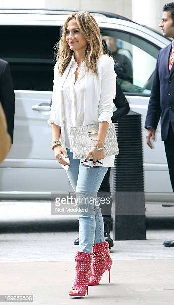Jennifer Lopez seen at BBC Radio One on May 30 2013 in London England