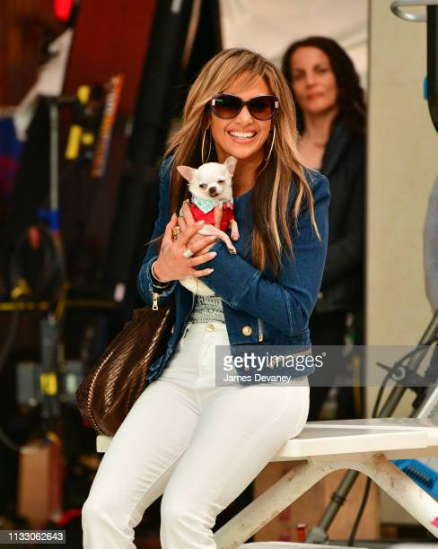 Jennifer Lopez seen filming on location for 'Hustlers' at Palisades Center on March 26 2019 in West Nyack New York