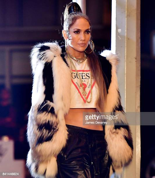 Jennifer Lopez seen on location for a music video in Manhattan on August 31 2017 in New York City